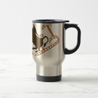 Bucking Bull Film Reel Travel Mug