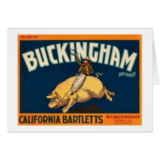 Buckingham Bartlett Apples - Vintage Crate Label Greeting Card