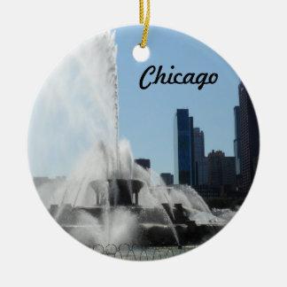 Buckingham Fountain - Chicago Ceramic Ornament
