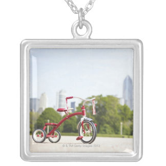 Buckingham Fountain, Chicago, Illinois, USA. Silver Plated Necklace