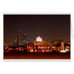 Buckingham Fountain -Oranges Greeting Cards