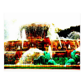 Buckingham Fountain, USA Postcard