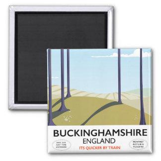 Buckinghamshire England railway travel poster Magnet