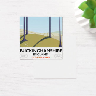 Buckinghamshire England railway travel poster Square Business Card