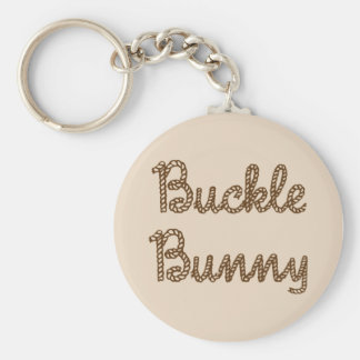Buckle Bunny Basic Round Button Key Ring