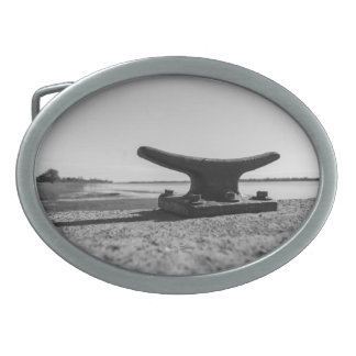 Buckle of belt marine, black and white topic oval belt buckles