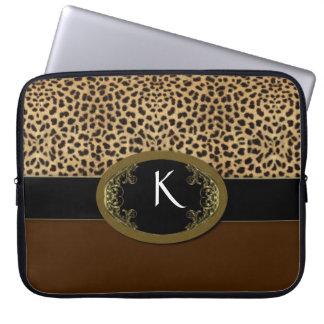 Buckle Up Leopard Laptop Sleeve