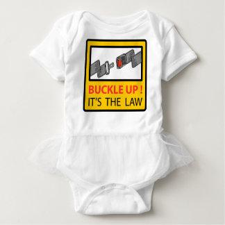 Buckle Up Sign Vector Sketch Baby Bodysuit