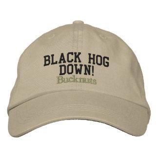 Bucknuts, Black Hog Down! Embroidered Hat
