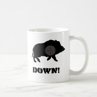 Bucknuts Black Hog Down Mug