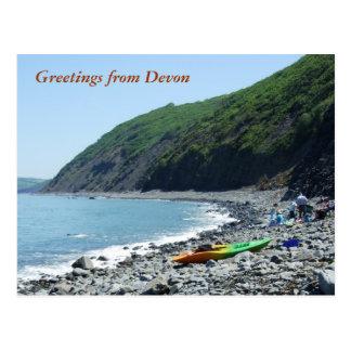 Bucks Mills Beach, Devon Postcard
