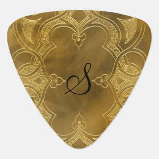 Buckskin Leather Art Deco Frame tan Plectrum