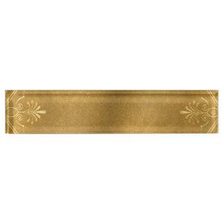 Buckskin Leather Victorian Frame tan Name Plate