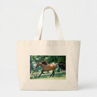Buckskin Morgan Horse Large Tote Bag