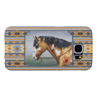 Buckskin Pinto Horse Southwest Indian Design Samsung Galaxy S6 Cases