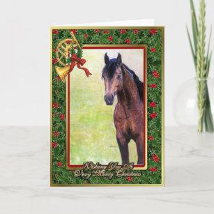 Buckskin Quarter Horse Blank Christmas Card
