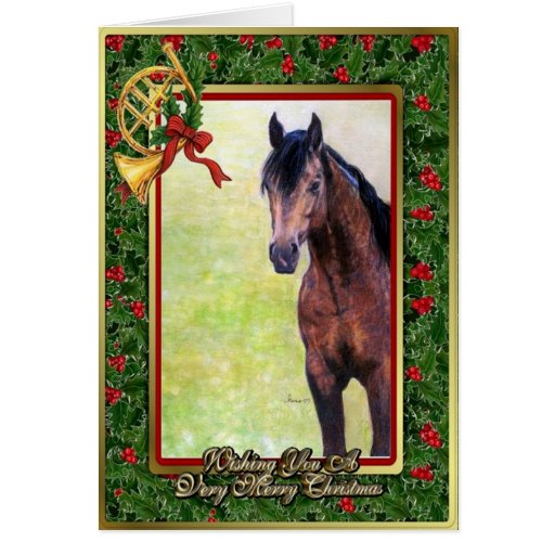 Horse christmas cards invitations photocards amp more