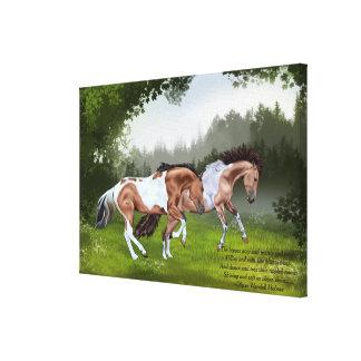 Buckskin Tobiano Paint Horses Canvas Print
