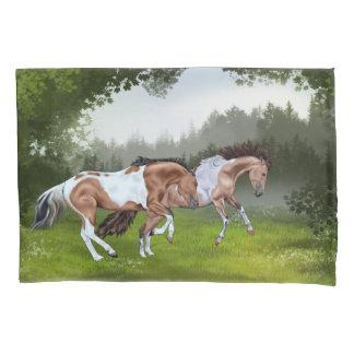 Buckskin Tobiano Paint Horses Pillowcase