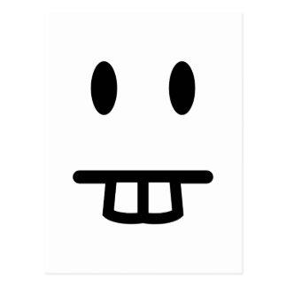 Bucktooth Face Postcard