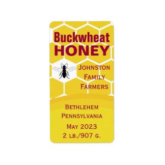 Buckwheat Honeycomb Address Label