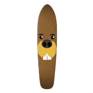 Bucky Beaver Face Skateboard Deck