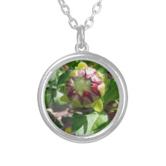 bud in autumn silver plated necklace