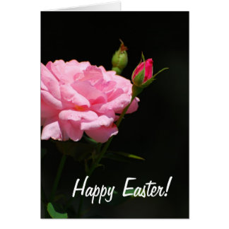 Bud of a rose, Happy Easter! Greeting Card