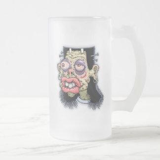 Bud of Frankenstein Frosted Glass Beer Mug