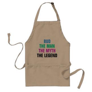 Bud the man, the myth, the legend standard apron