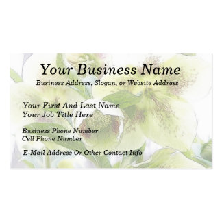 Bud To Blossom - White Hellebores Business Card Template