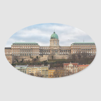 Buda Castle Hungary Budapest at day Oval Sticker
