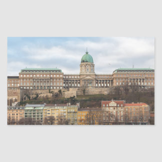 Buda Castle Hungary Budapest at day Rectangular Sticker