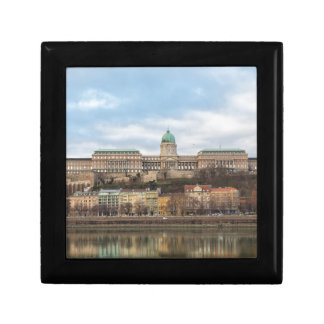 Buda Castle Hungary Budapest at day Small Square Gift Box