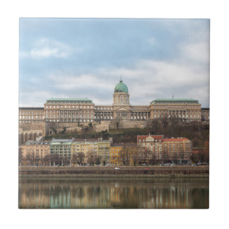 Buda Castle Hungary Budapest at day Small Square Tile