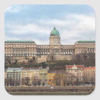 Buda Castle Hungary Budapest at day Square Sticker