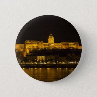 Buda Castle Hungary Budapest at night 6 Cm Round Badge