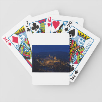 Buda Castle Hungary Budapest at night Bicycle Playing Cards