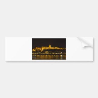 Buda Castle Hungary Budapest at night Bumper Sticker