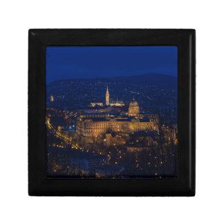 Buda Castle Hungary Budapest at night Gift Box