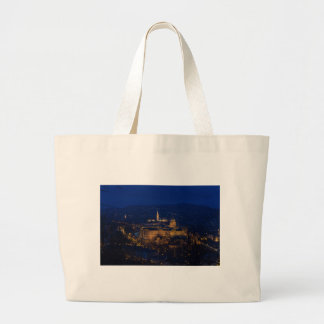 Buda Castle Hungary Budapest at night Large Tote Bag