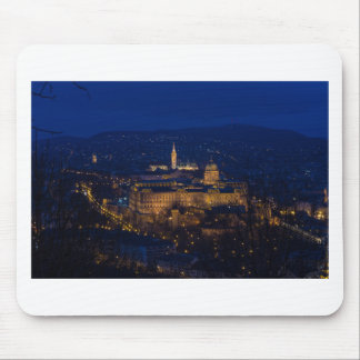 Buda Castle Hungary Budapest at night Mouse Pad