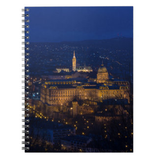 Buda Castle Hungary Budapest at night Notebook