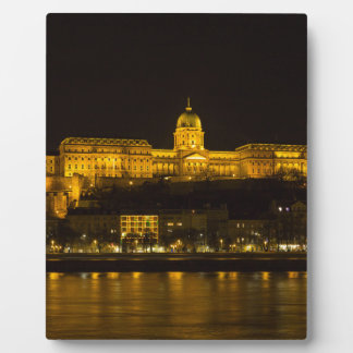Buda Castle Hungary Budapest at night Plaque