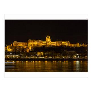 Buda Castle Hungary Budapest at night Postcard