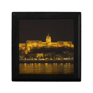Buda Castle Hungary Budapest at night Small Square Gift Box