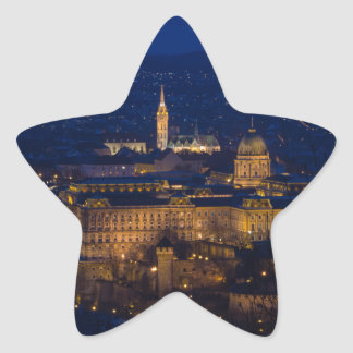 Buda Castle Hungary Budapest at night Star Sticker