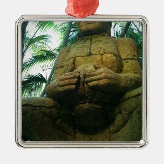 Buda Photo Silver-Colored Square Decoration