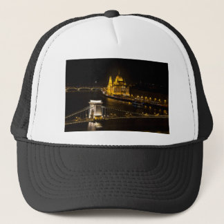 Budapest At Night Trucker Hat