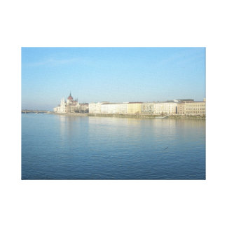 Budapest Blue Danube and Sky Canvas Print